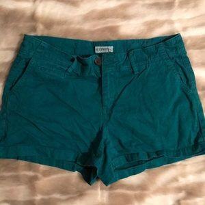 Merona teal denim shorts